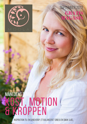 MOOLA magasin september 2017 tema om KOST, MOTION & KROPPEN
